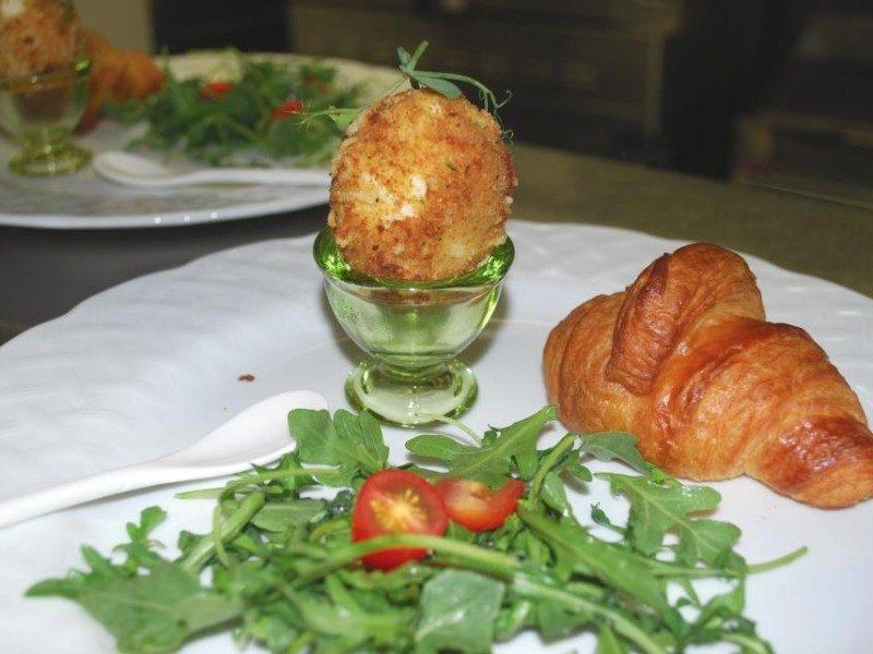 Parmesan Eggs w/ Arugula