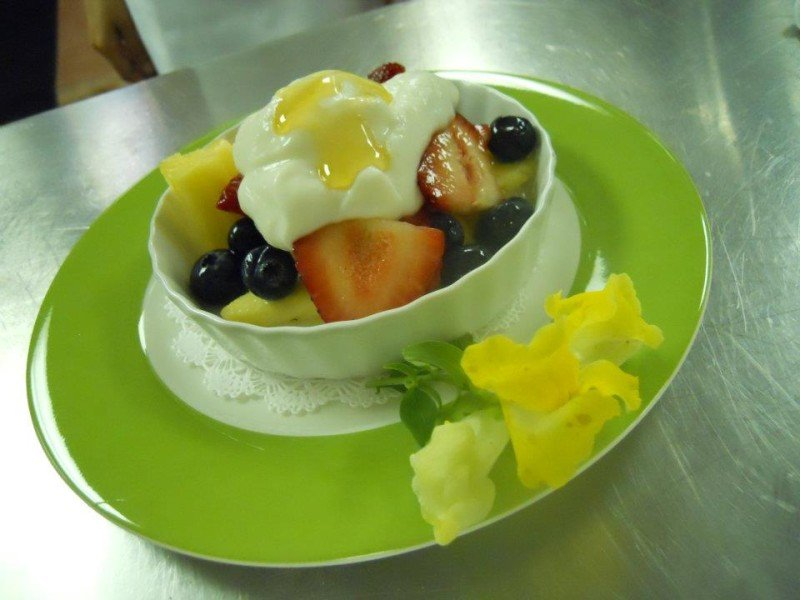 Fruit Cup w/ Greek Yogurt & Local Honey