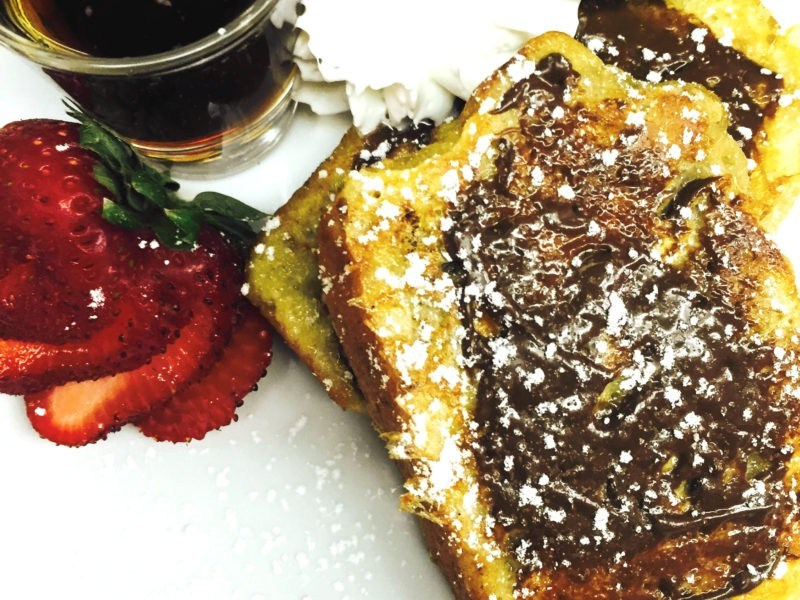 Chocolate Banana Bread French Toast