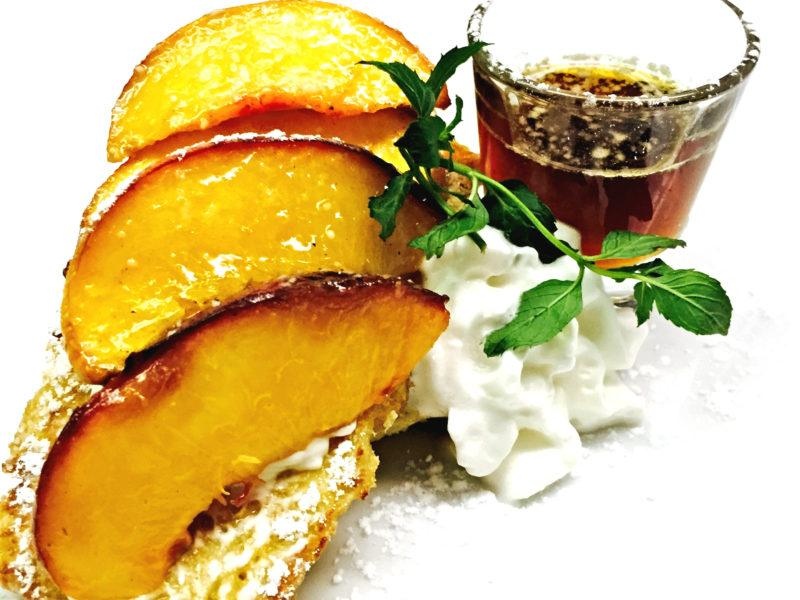 Brioche French Toast w/ Sauteed Peaches