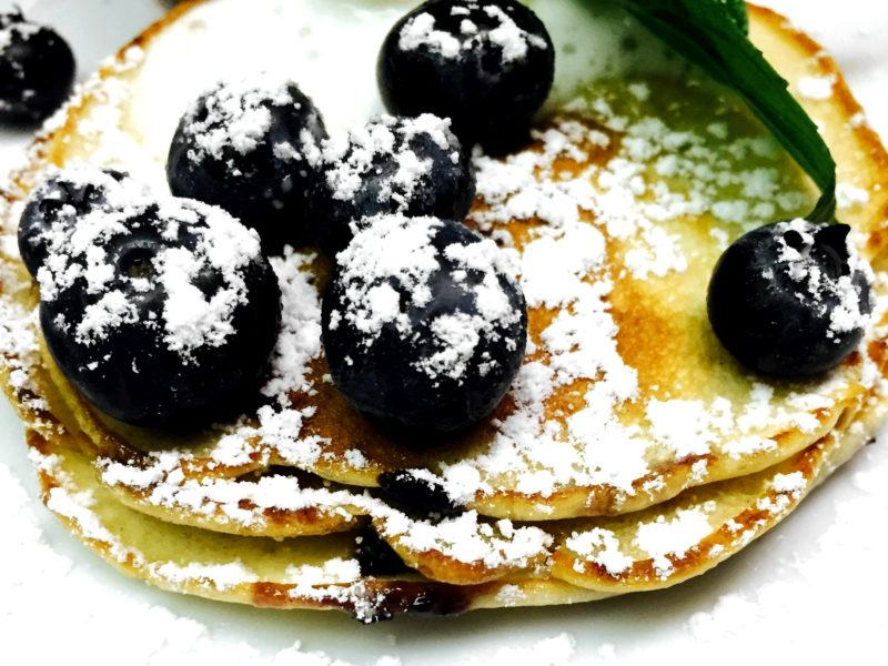 Silver Dollar Blueberry Pancakes